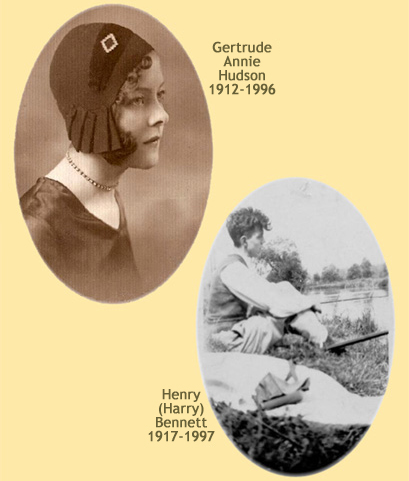 Gertrude Annie Hudson and Henry (Harry) Bennett